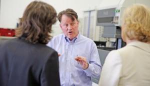 Paul Waldron explains to Andrea Leadsom MP