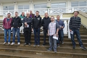 Some of the crew at Towcester greyhounds