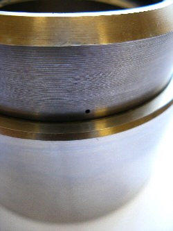 EDM drilled 0.6mm hole