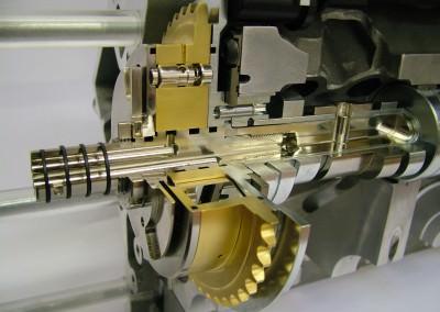 assembled cut away model