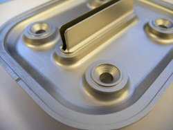 slotted bracket for floor tray