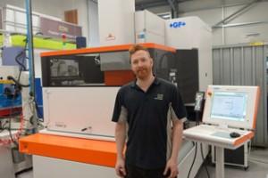 Richard Grace with new Form 30 machine