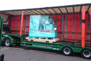 The Form 30 ready for unloading